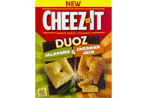 Cheez-It Baked Snack Crackers Duoz Jalapeno & Cheddar Jack