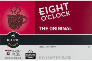 Eight O'Clock The Original Medium Roast Coffee K-Cup Packs - 12 CT