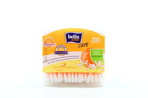 Палочки ватные с Д-пантенолом и экстрактом из цветка апельсина Care Cotton Bella 200шт