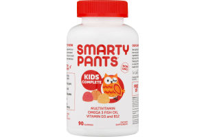 SmartyPants Kids Complete Multivitamin Gummies - 90 CT