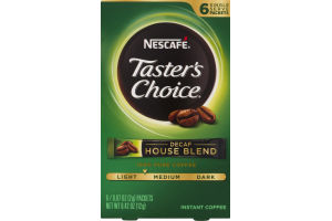 Nescafe Taster's Choice Instant Coffee Decaf House Blend - 6 CT