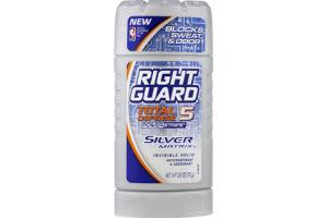 Right Guard Total Defense 5 Silver Matrix Invisible Solid Anti-Perspirant & Deodorant