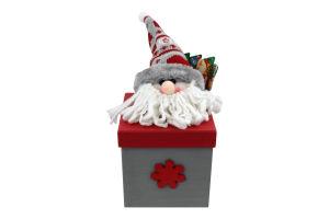Украшение декор Дед Мороз коробка квад 22см Y*1