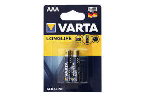 Батарейка Longlife AAA BLI 2 Varta