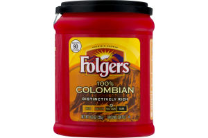 Folgers 100% Colombian Ground Coffee Med-Dark