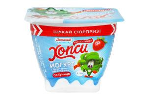 Йогурт 1.5% Клубника Хопси Яготинське для дiтей ст 115г