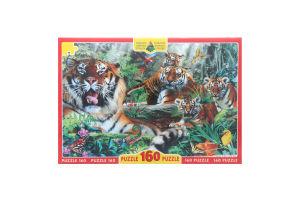 Пазли для дітей від 3рок Тигри Київська Фабрика Іграшок 160ел