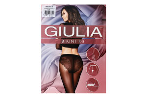 Колготки жіночі Giulia Bikini 40den 2-S cappuccino