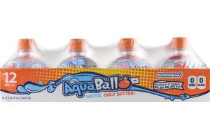 AquaBall Flavored Water Drink Orange - 12 CT