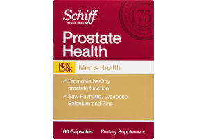 Schiff Prostate Health Men's Dietary Supplement Capsules - 60 CT
