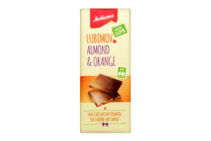 Шоколад Любимов молочн з карам/мигдал/апельс цедрою 85г