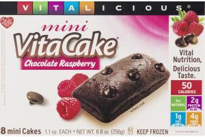Vitalicious VitaCake Mini Cakes Chocolate Raspberry - 8 CT