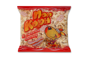 Попкорн зі смаком бекону Забава м/у 50г