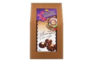 Печенье песочное С шоколадом в белой глазури Корисна Кондитерська к/у 130г