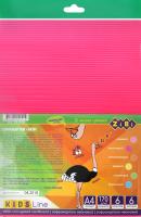 Набір гофрокартону 6 аркушів 6 неонових кольорів А4 №ZB.1970 Kids Line Zibi 1шт