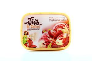 Морозиво Viva Полуниця-йогурт судок 559г х8
