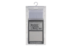 """Royal Crest Home Products Shower Curtain and Rings Set Vinyl 70"""" x 72"""""""