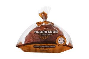 Хліб половинка в нарізці Український столичний Київхліб м/у 0.475кг