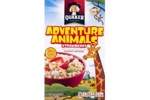 Quaker Instant Oatmeal Adventure Animals Strawberry - 8 CT