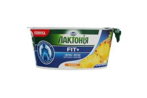 Крем творожный 0.2% термизированный Ананас Fit+ Лактония ст 140г