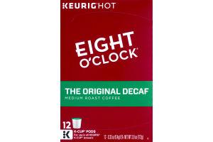Eight O'Clock The Original Decaf Medium Roast Coffee K-Cup Pods - 12 CT