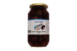 Оливки черные натуральные с косточкой Santorini Dreams с/б 1000г