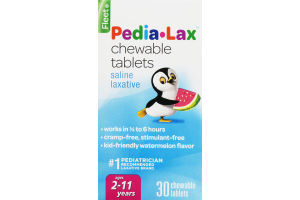 Fleet Pedia-Lax Chewable Tablets Saline Laxative - 30 CT