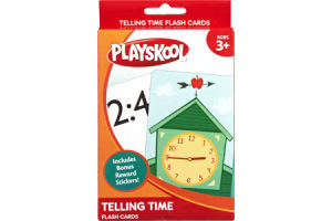 Playskool Ages 3+ Telling Time Flash Cards