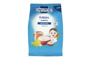 Каша молочная для детей от 6мес Манная с фруктами Карапуз м/у 250г