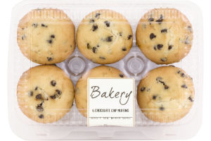 Ahold Chocolate Chip Muffins - 6 CT