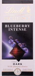 Шоколад темний Blueberry Intense Excellence Lindt к/у 100г