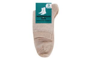 Шкарпетки чоловічі Житомирська пара №674847 29 сітка бежевий