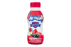 Йогурт 2.7% для детей от 8мес питьевой с наполнителем фруктовым малина-черная смородина-шиповник Имунити Агуша п/бут 200г
