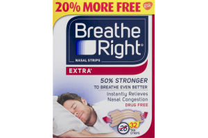 Breath Right Nasal Congestion Strips Extra Strong - 32 CT