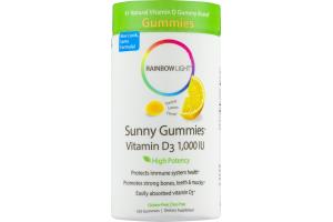 Rainbow Light Sunny Gummies Vitamin D3 1,000 IU Dietary Supplement Gummies - 100 CT