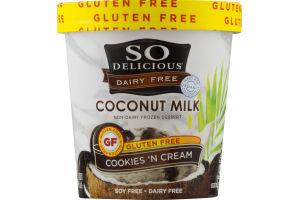 So Delicious Dairy Free Coconut Milk Non-Dairy Frozen Dessert Cookies 'N Cream