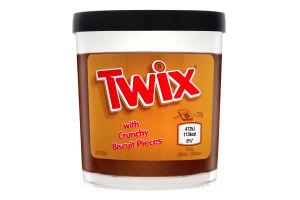 Спред шоколадний з ароматом карамелі з шматочками печива Twix с/б 200г
