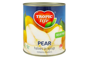 Груша Половинки в сиропі Tropic life 850мл