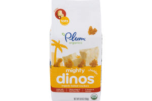 Plum Organics Might Dinos Organic Baked Crackers Cheddar