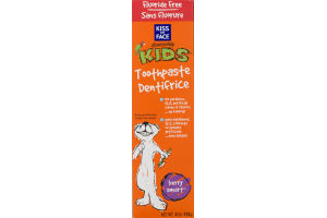 Kiss My Face Obsessively Kids Toothpaste Dentifrice Fluoride Free Berry Smart