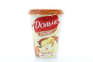 Десерт творожный 4% President груша-ваниль с карамелью Дольче п/ст 400г