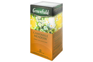 Чай трав'яний з ароматом лічі Camomile Meadow Greenfield к/у 25х1.5г