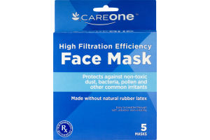 CareOne High Filtration Efficiency Face Mask - 5 CT