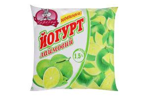 Йогурт 1.5% Лаймовый Заречье м/у 400г