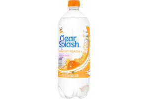 Ahold Clear Splash Flavored Sparkling Water Beverage Apricot Peach
