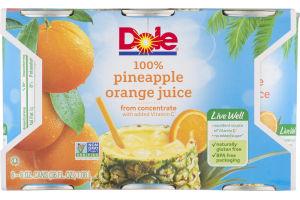 Dole 100% Pineapple Orange Juice - 6 PK