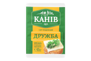 Сыр плавленный 50% Дружба Канів 1971 м/у 85г