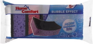 Губки кухонные Bubble Effect Home Comfort м/у 5шт/уп