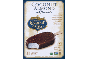 Luna & Larry's Organic Coconut Bliss Coconut Almond in Chocolate - 3 CT