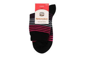Брестские шкарпетки жіночі Classic 14C1100 р.23 014 чорний-я.рожевий